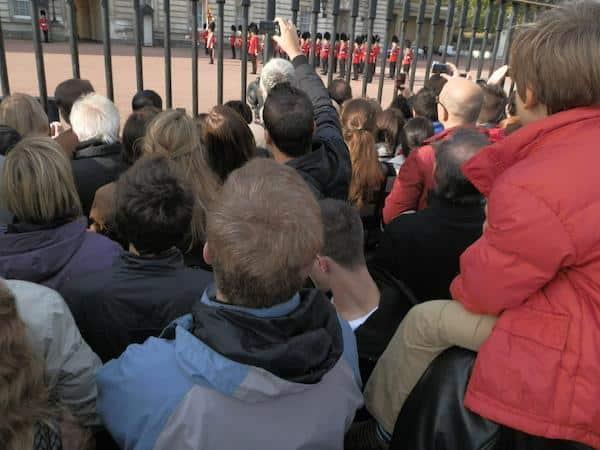 Multidão Troca da Guarda Londres
