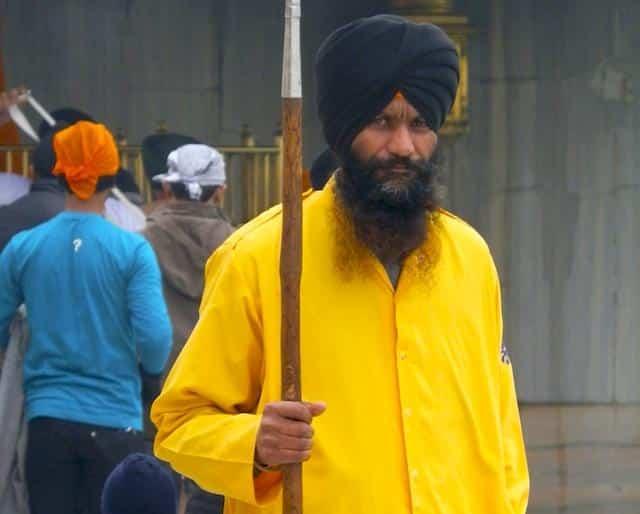 Homem sikh em Amritsar