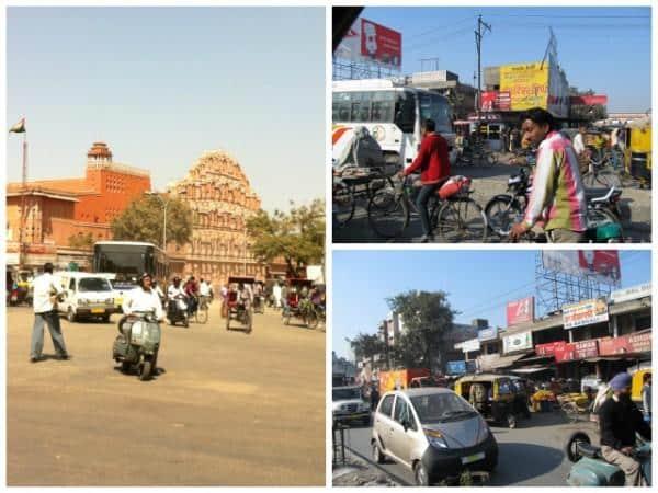 Trânsito indiano ruas