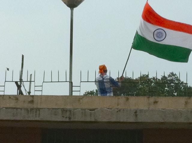 Bandeira Indiana troca da guarda