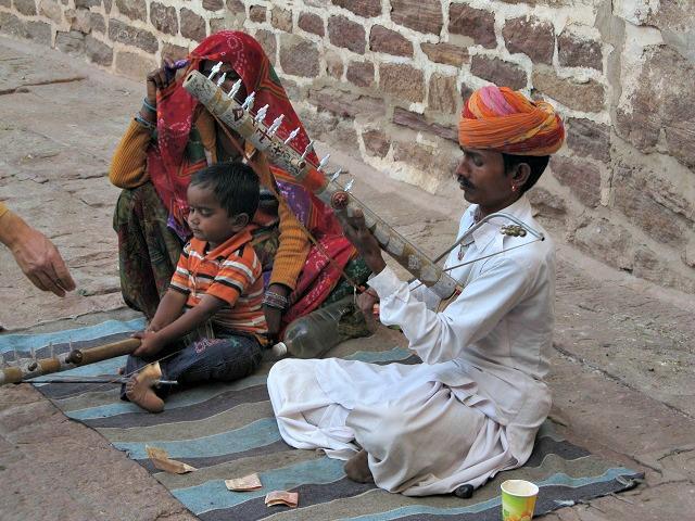 Artista de rua em Jodhpur, Índia