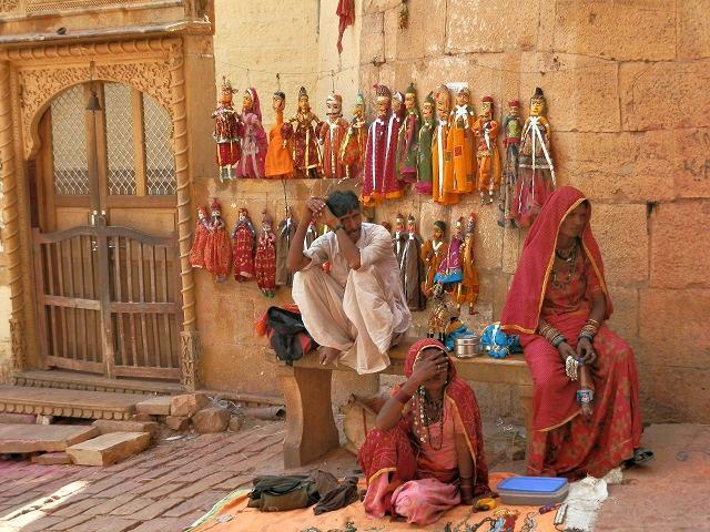 Família em Jaisalmer, Índia