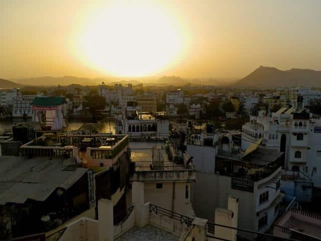 Terraços em Udaipur, Índia