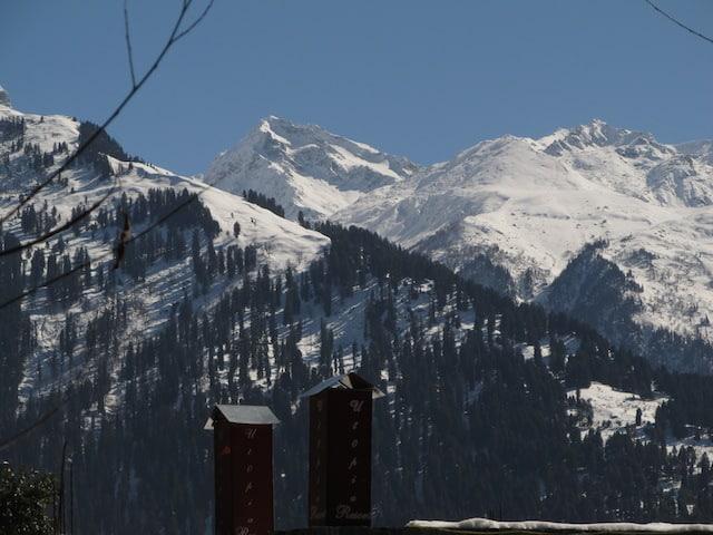 Vista do Himalaia de Manali