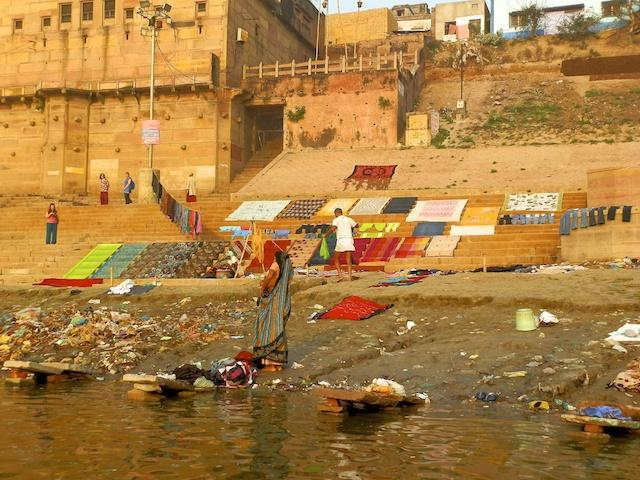 Ghat no rio Ganges, em Varanasi