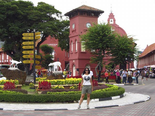 Praça torre relógio Malaca