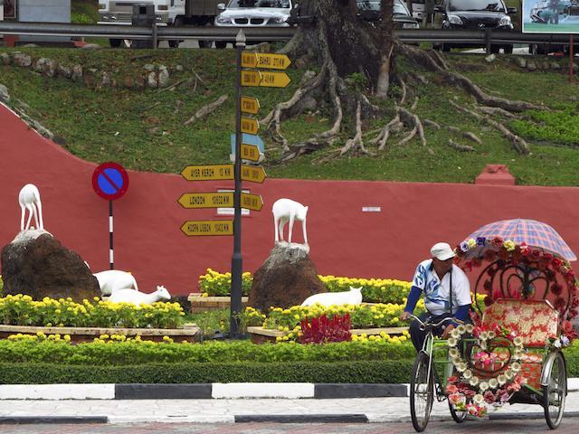 Tuk tuk turístico em Malaca