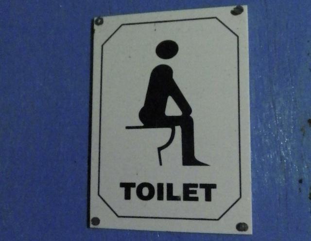 Plaquinha de banheiro na índia