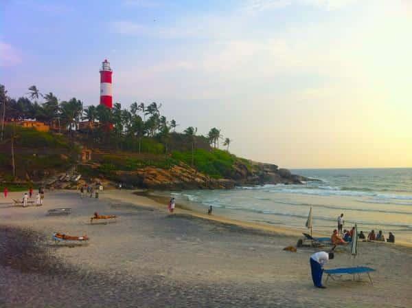 Kovalam praia no Kerala