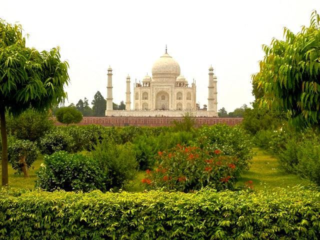 Vista do Taj Mahal, Índia