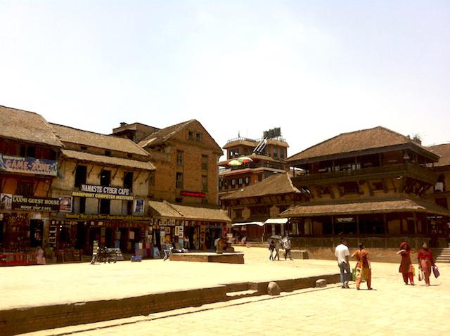 Praça em Bhaktapur - Nepal