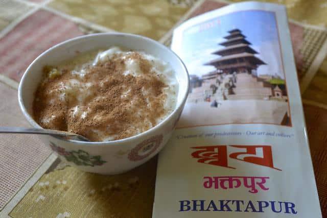 yogurte típico de Bhaktapur - Nepal