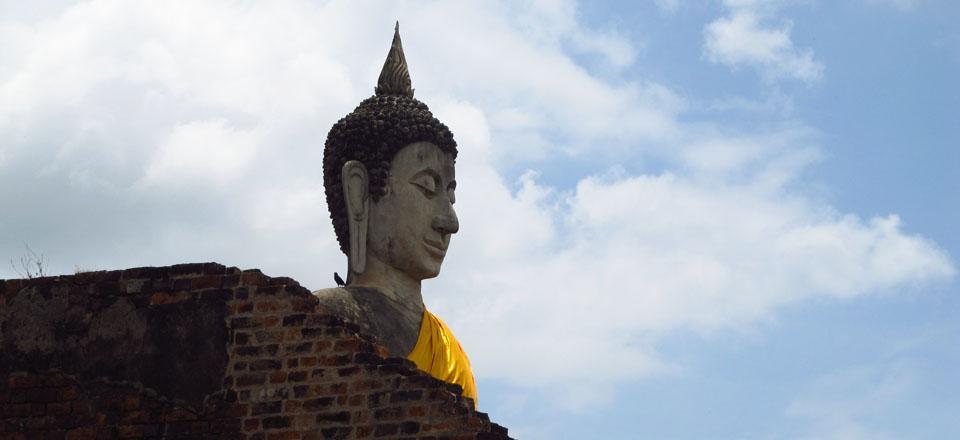 Buda, Ayutthaya, Tailândia.