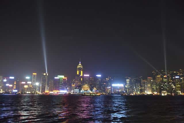 Sinfonia das Luzes em Hong Kong