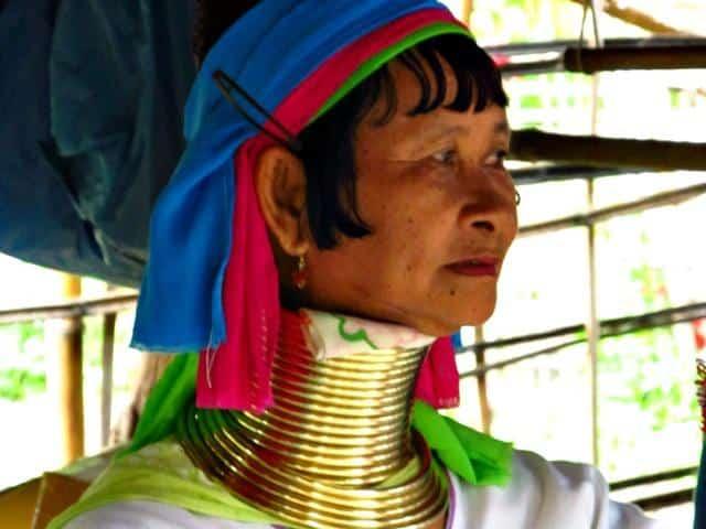 mulheres girafa da Tailândia