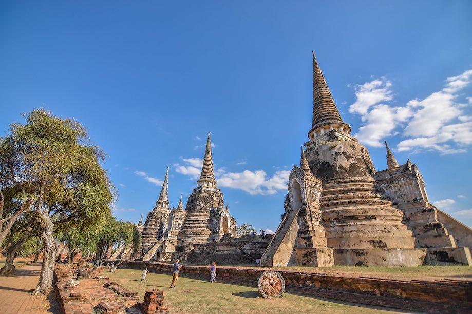 Templo em Ayutthaya, Tailândia