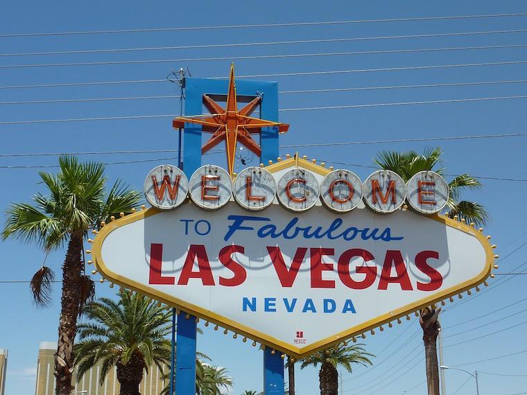 """Placa """"Welcome to Las Vegas"""""""