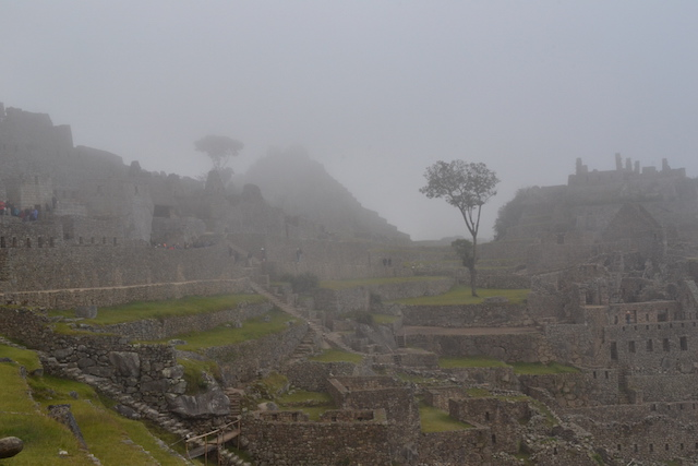 Névoa em Machu Picchu, Peru