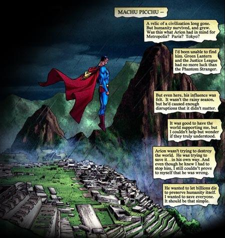 Superman em Maachu Picchu