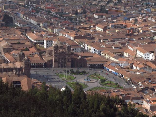 Vista da Praça das Armas, em Cuzco, Peru