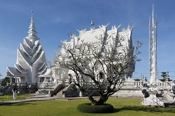 Templo Branco na Tailândia