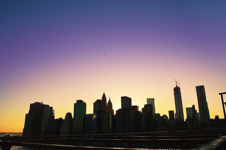 Por do sol em Nova York - Skyline