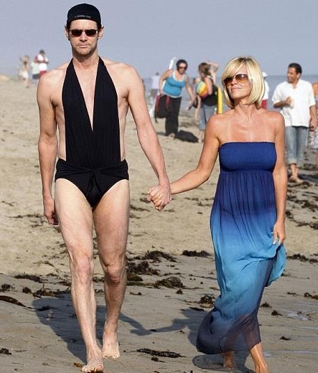 Jim Carrey na praia
