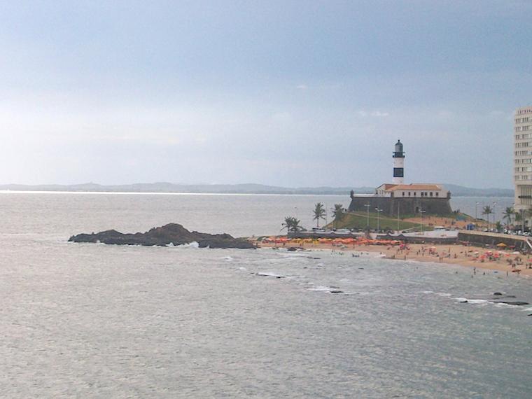 Praia do Farol da Barra Salvador Bahia
