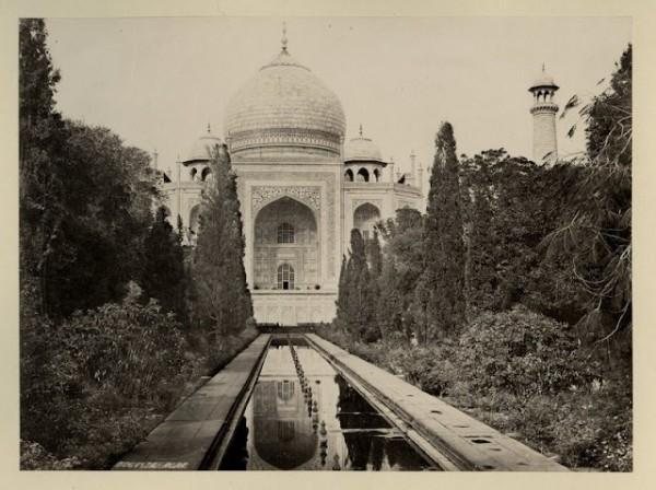 Foto antiga do Taj Mahal, Índia
