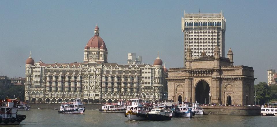 Hotel Taj Mahal e Portão da Índia, Mumbai