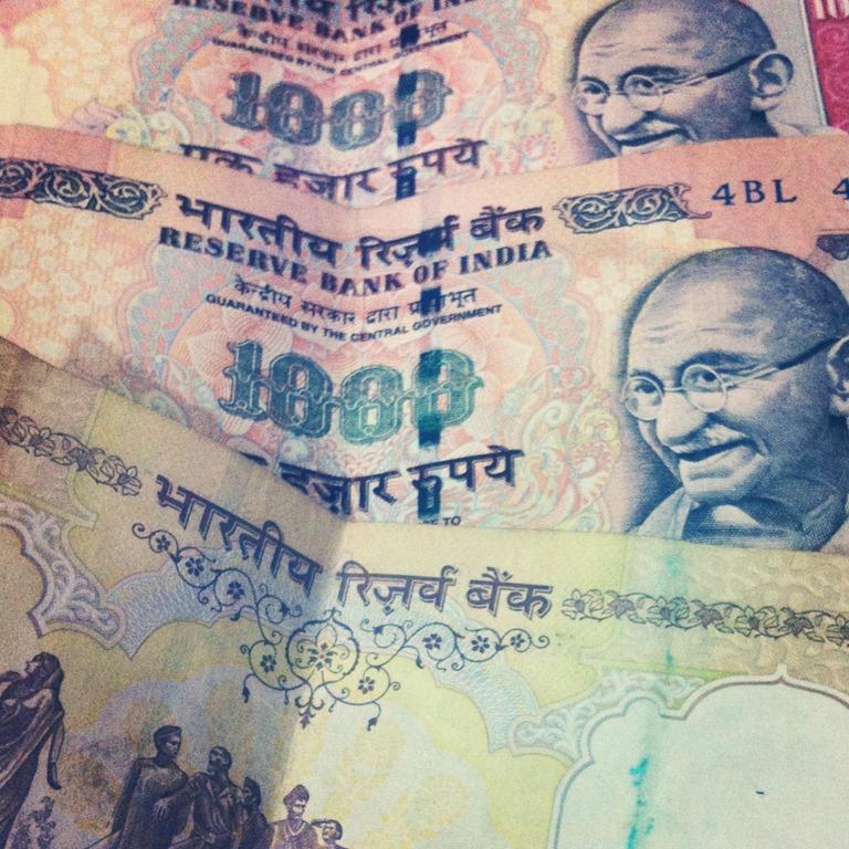 Notas de rúpias indianas