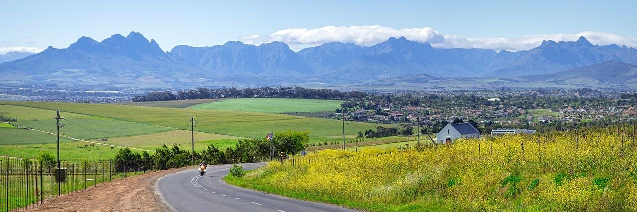 Rota dos Vinhos, na África do Sul