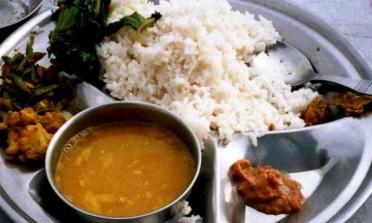 A comida com amor feita no Nepal
