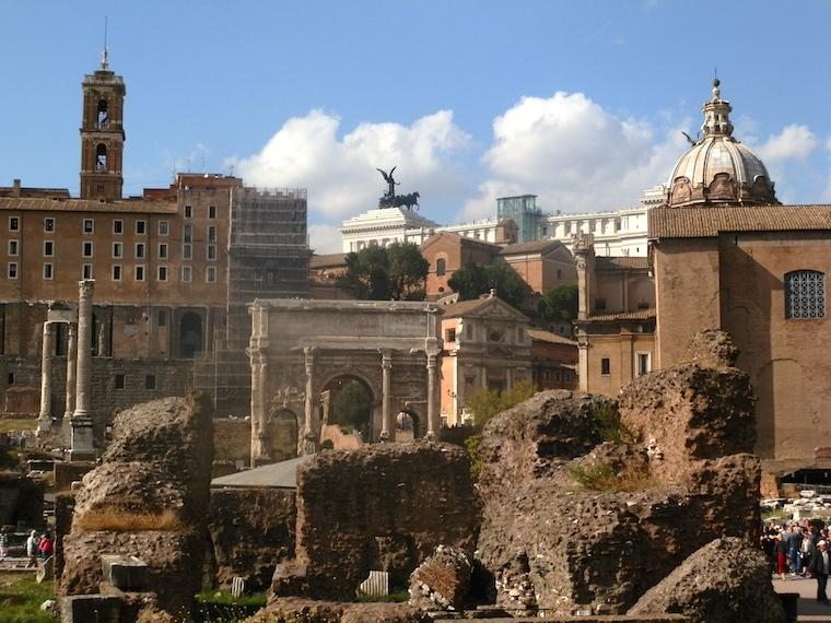 Forum Romano, em Roma, Itália