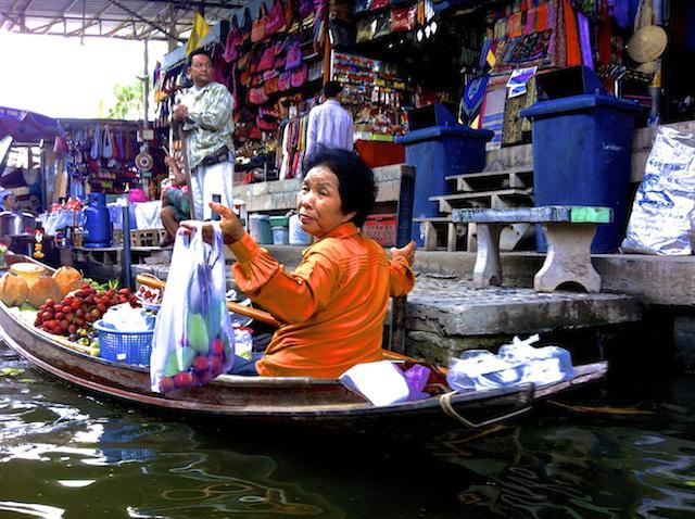 Mercado flutuante de Bangkok - Tailândia