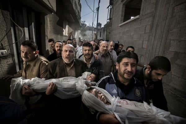Foto de Paul Hansen mostra ataque israelita na Palestina