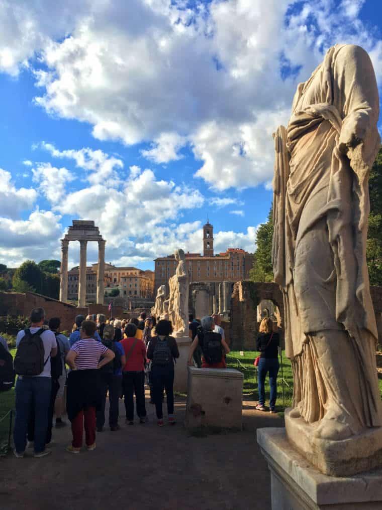 forum romano templo de festas