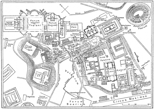 mapa do forum romano