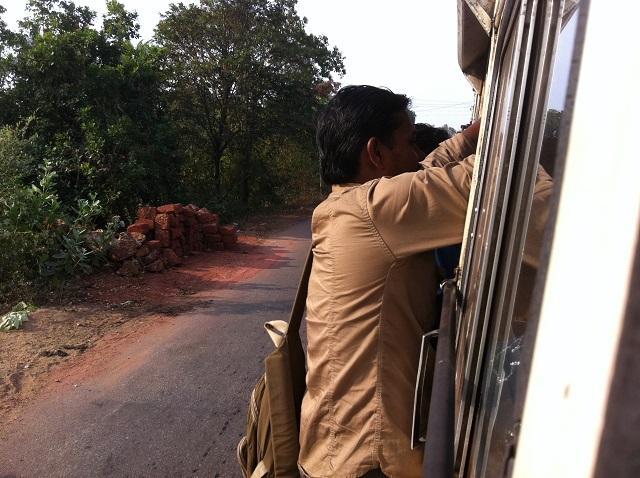 Viajar de ônibus Índia