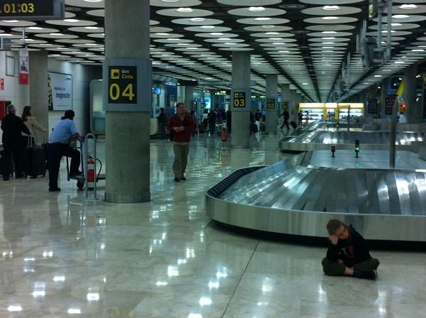 Imigração no aeroporto de Madrid
