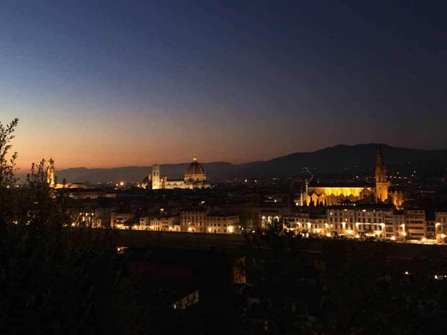 fim do dia na piazzale michelangelo