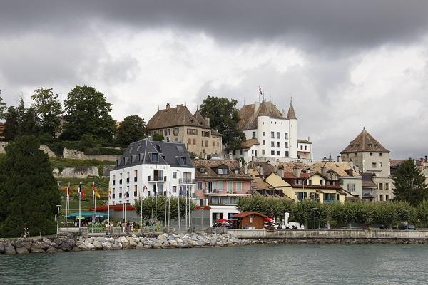passeio de barco pelo lago Genebra