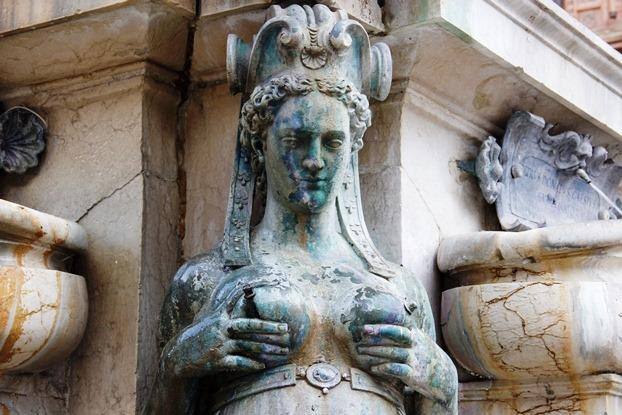 Fontana de Netunno em Bolonha, Itália
