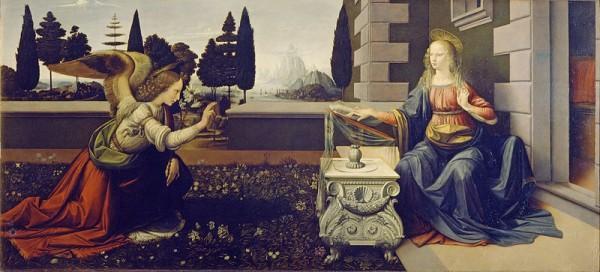 A Anunciação, de Leonardo da Vinc