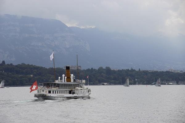 Cruzeiro num barco a vapor, Genebra