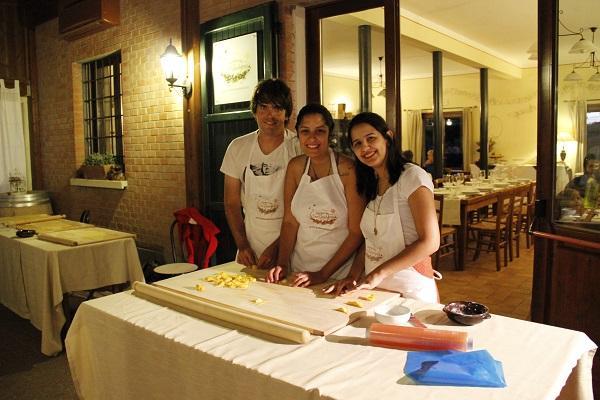 Aula de culinária italiana