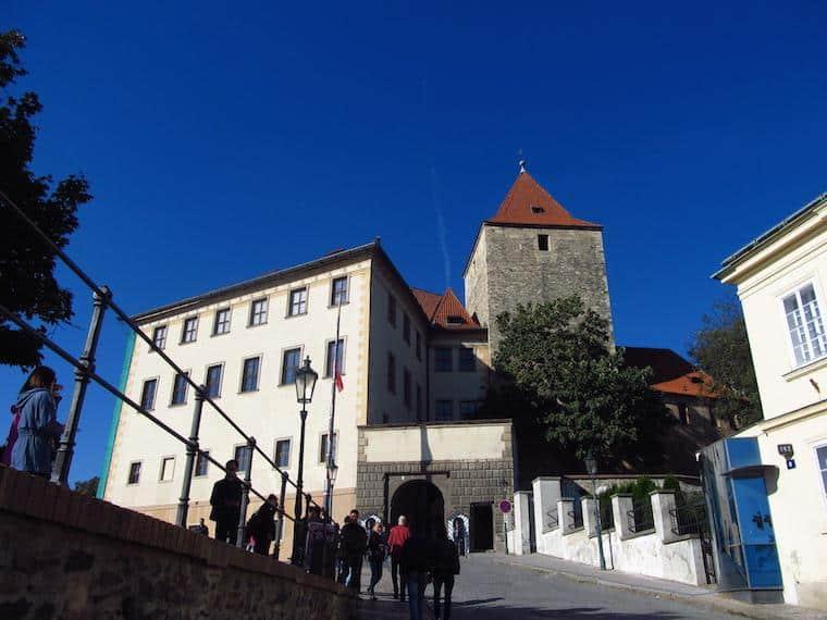 Castelo de Praga entrada subida