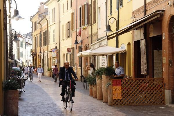 Centro de Ravena, Itália