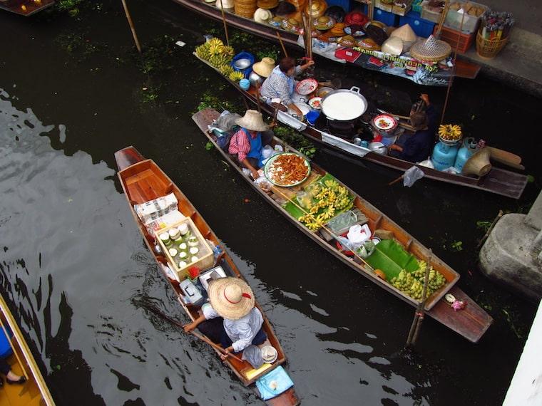 tailândia-bangkok-mercado-flutuante