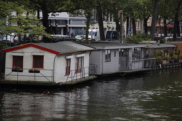 House boats em Amsterdam